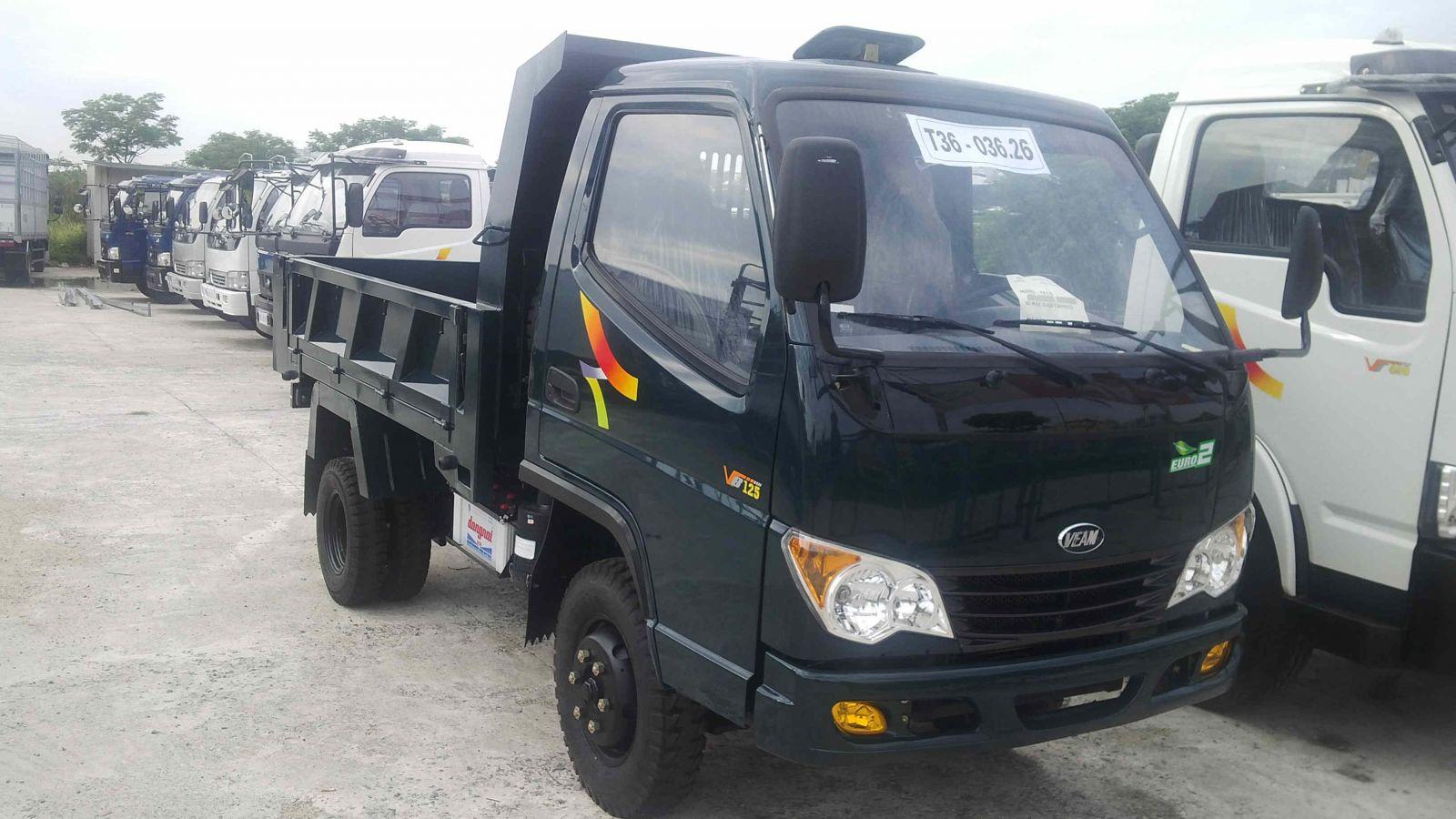 Giá bán xe Tự Đỗ Veam 1.25 tấn, xe Ben veam 1T25 VB125 máy Hyundai